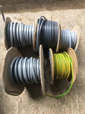 4 reels of electrical cable