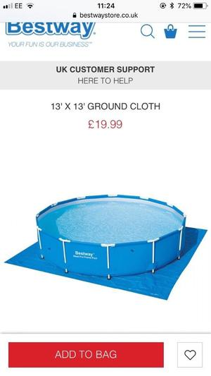 Bestway swimming pool and accessories