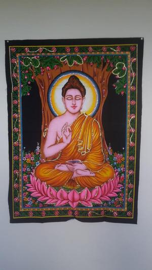 Buddha wall hanging cloth 100 cm by 30 cm