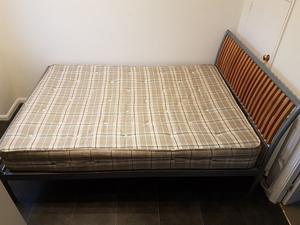 Double bed with comfortable mattress