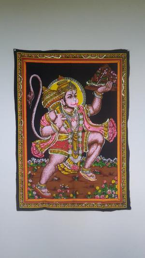 Hanuman wall hanging cloth 100 cm by 30 cm