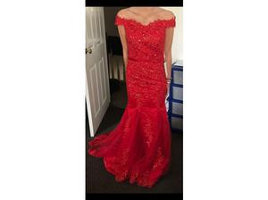 Ladies red prom dress (size 6) in Mountain Ash