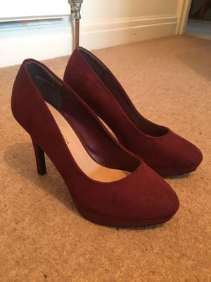 New look Red high heeled shoes size 4