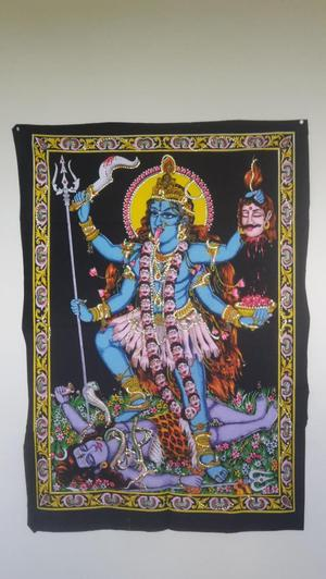 Kali wall hanging/Altar cloth 100 cm by 30 cm