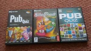 3 pc cd rom 2 x pub quiz and 1 trivial pursuit £3 the lot