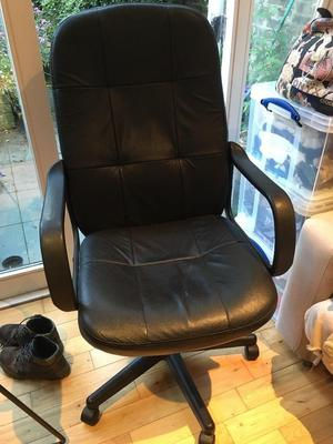 Large, comfy, black office chair in good condition