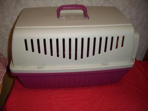 Plastic Pet Carrier height 34 cm x w 29 x d 51 cm