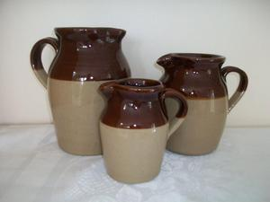 Set of 3 Vintage Pearsons of Chesterfield stoneware jugs