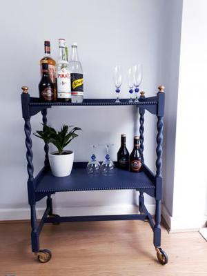 Drinks Trolley Vintage Console Table NEWLY PAINTED