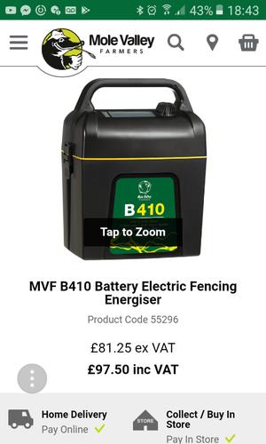Electric Shepherd Battery Fencing Unit Esb250 Posot Class
