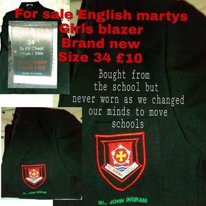 English martys school blazer