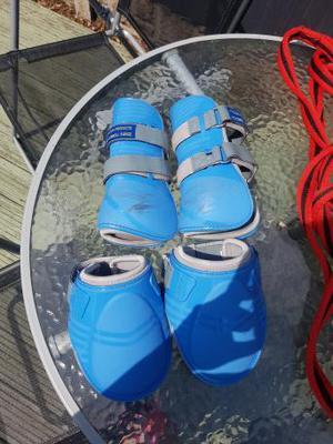 Funnel Range Blue Tendon and Fetlock Boots