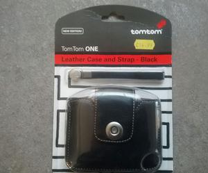 Official TomTom black leather carry case for the TomTom ONE