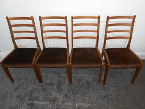 Set Of Four Retro G PLAN Dining Chairs VGC