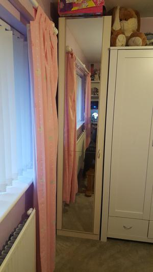 Tall wardrobe and 2 sets of drawers