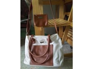 Ted Lapidus brand new brown/cream shoulder/handle bag in