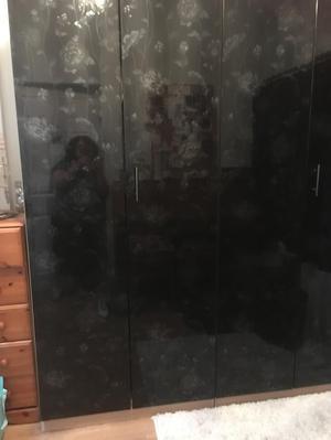 Wardrobe- High Gloss Black Wardrobes