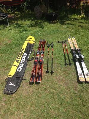 """""""DYNASTAR"""" 186cm Skis """"HEAD CYBER"""" 180cm Skis both with poles"""