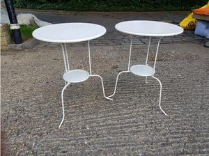 Two metal Ikea tables - free to a good home! Ideal for al
