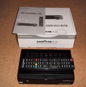 As new Zgemma H2S twin tuner satellite receiver / IPTV box for sale