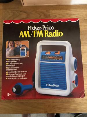 Retro Fisher Price am fm radio 70s