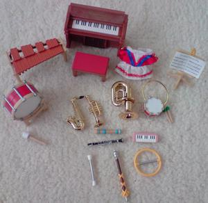 VINTAGE Sylvanian Families Musical Instrument Band Set