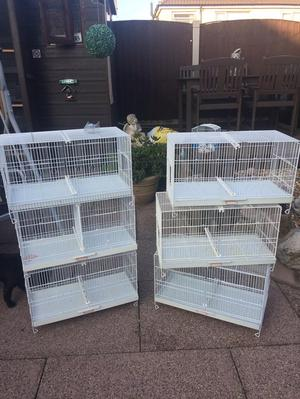 7 x double breeding cages