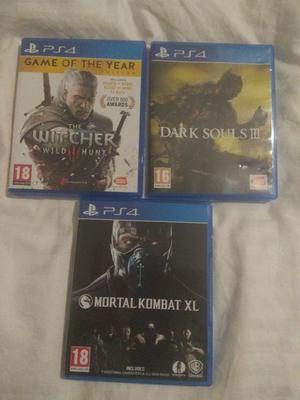 PS4 games: Dark Souls III & The Witcher III Wild Hunt Game of the Year & Mortal Kombat XL