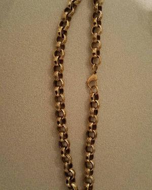9ct gold beltcher necklace
