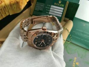 LADIES Rolex Datejust Black Dial Rose gold