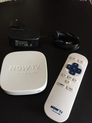 Now tv box with remote