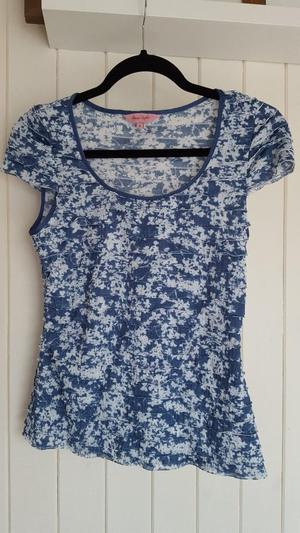 Phase Eight Blue and White Top - Size 8
