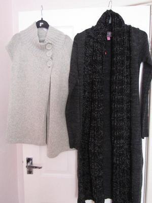 Womens Cardigans x 2 size uk 8 brand new (Lipsy etc)