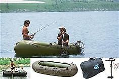 new wild river inflatable fishing boat with motor and oars