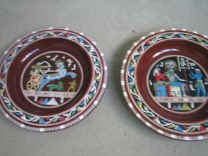 2 EGYPTIAN WALL PLATE PLAQUE