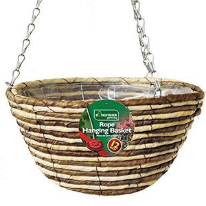 Kingfisher HB12RR Rope Hanging Basket cm Helps Aid