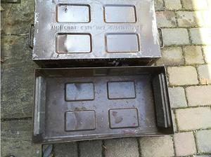 Large Army Metal Amo Boxes x 2 in Havant