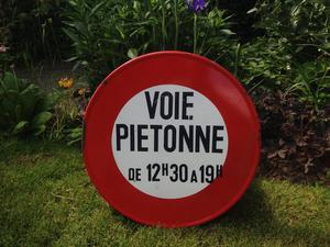 Lovely French Road / Pedestrian Sign