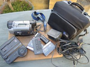 RARE COLLECTORS SONY VIDEO CAMCORDER WITH ACCESSORIES