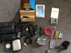 Sony Handycam DCR-HCE with accessories