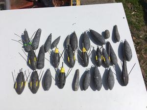Job lot of fishing weights