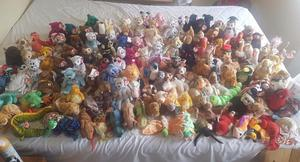 Very large collection of ty toys