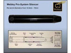 "WANTED****** "" WEBLEY PRO-SYSTEM SILENCER COMPLETE WITH"