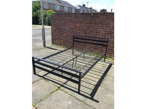 Black double bed frame in Blyth