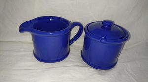 Blue milk jug and Sugar Bowl