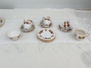 Colclough Autumn Roses china set