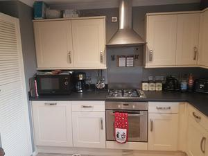 Complete fitted kitchen with some appliances