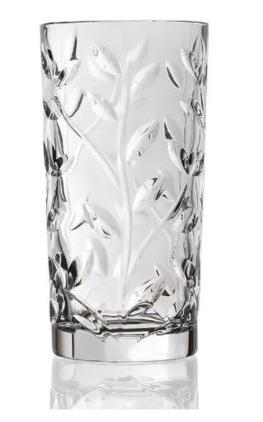 RCR Crystal Laurus Highball Glasses, Set of 6.