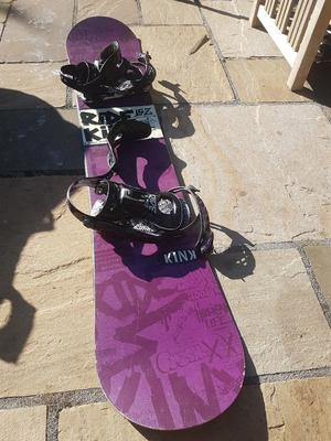 Snowboard Kink RIDE (comes with boots, bag, bindings, helmet, and goggles)