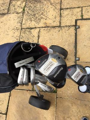 Howson Golf Clubs and Trolley, good condition Ideal for new golfer!